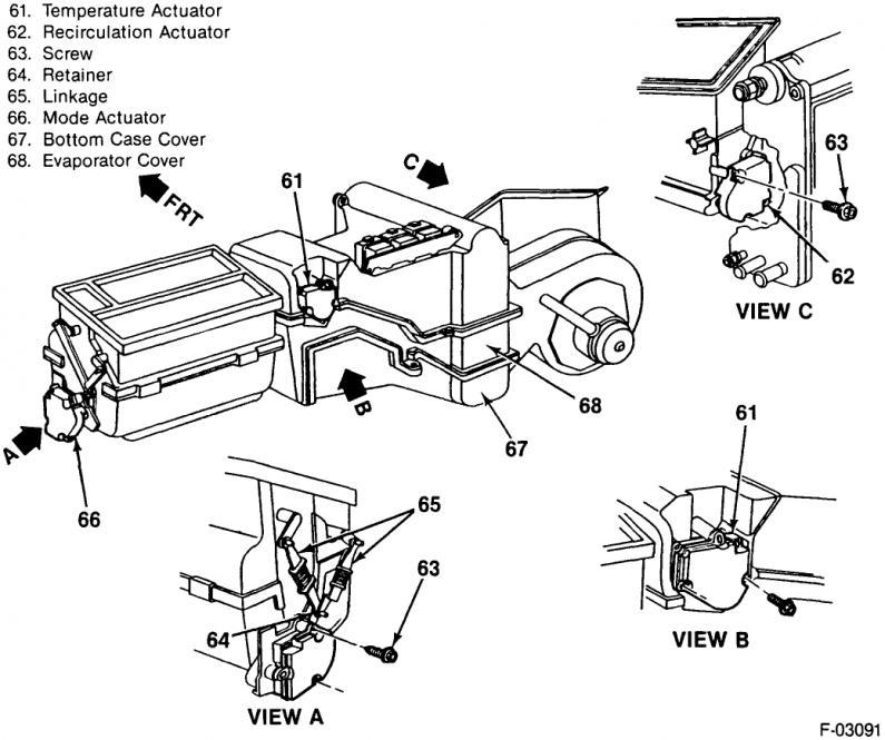 1992 Silverado Mode Actuator Linkage Gm Truck Club Forum