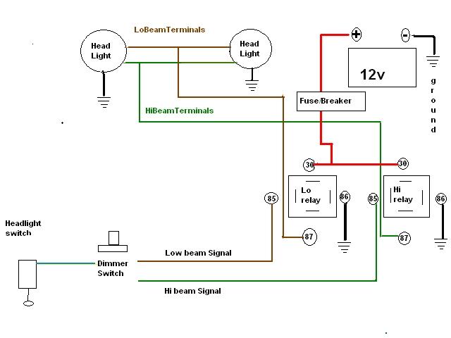 Headlight Relay Wiring Diagram from www.gmtruckclub.com