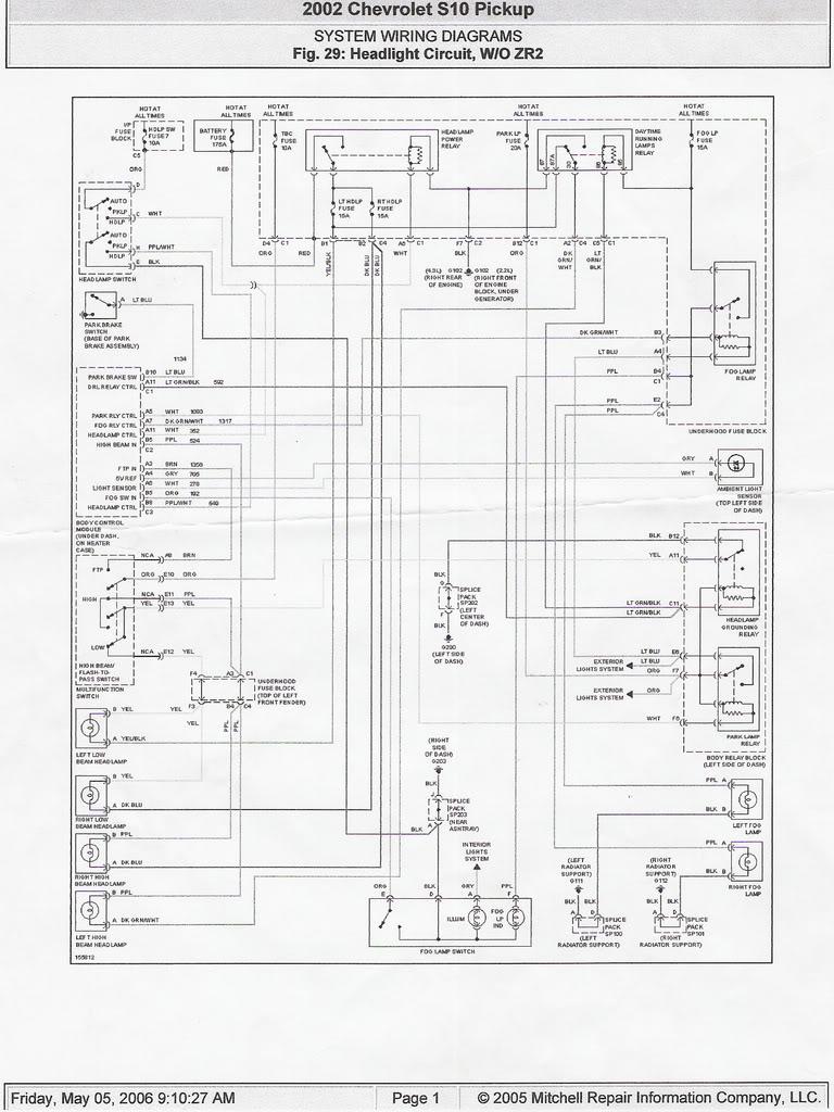 2001 S-10 low beam headlight no longer come on | GM Truck Club Forum | 2003s 10 Zr2 Wiring Diagram |  | GM Truck Club Forum