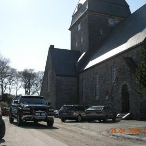Here a snapshot outside the church.....